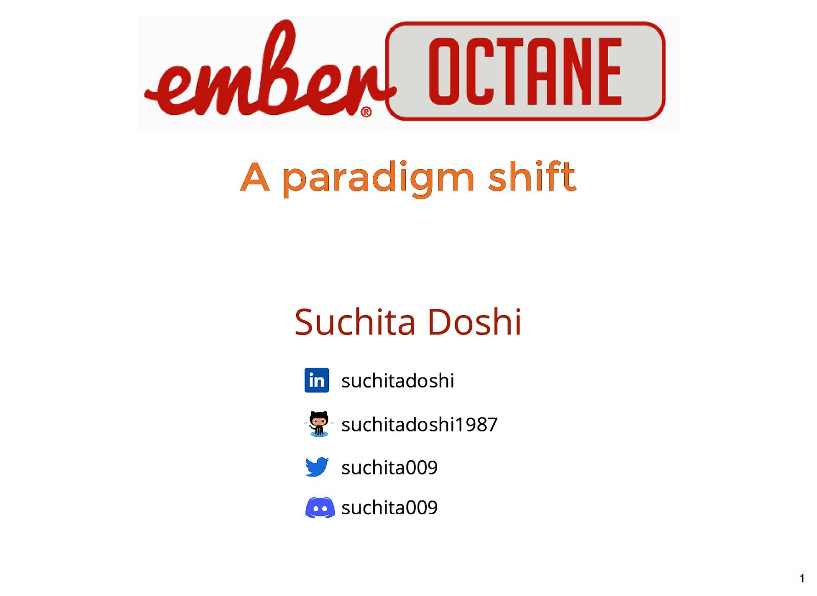 Octane - A Paradigm Shift in EmberJS