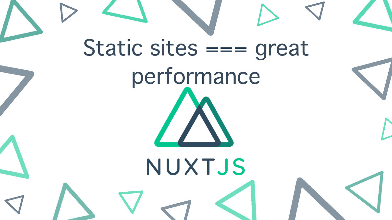 Static generated sites === great performance. What are you waiting for?