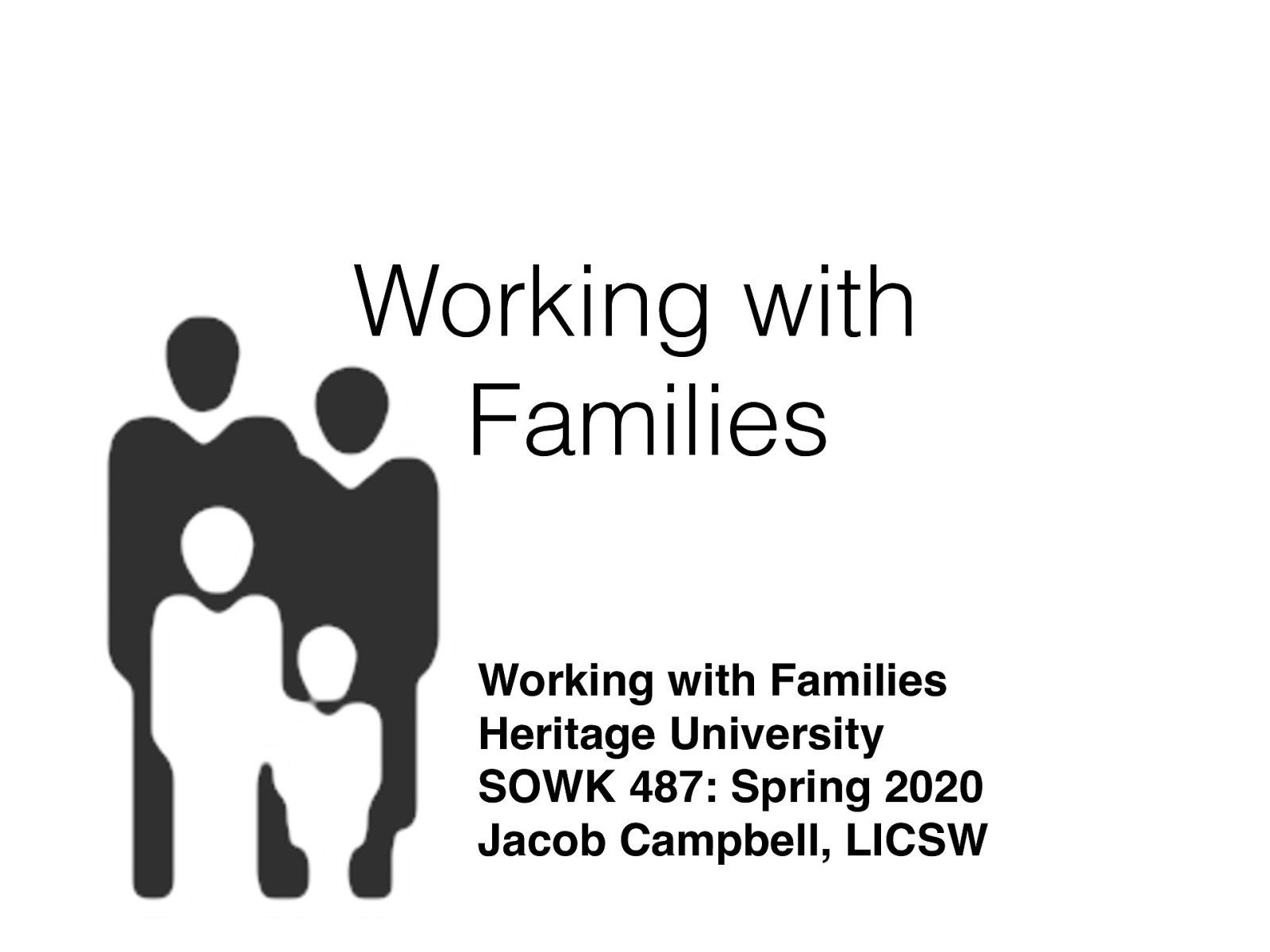 Week 11 - Working with Families