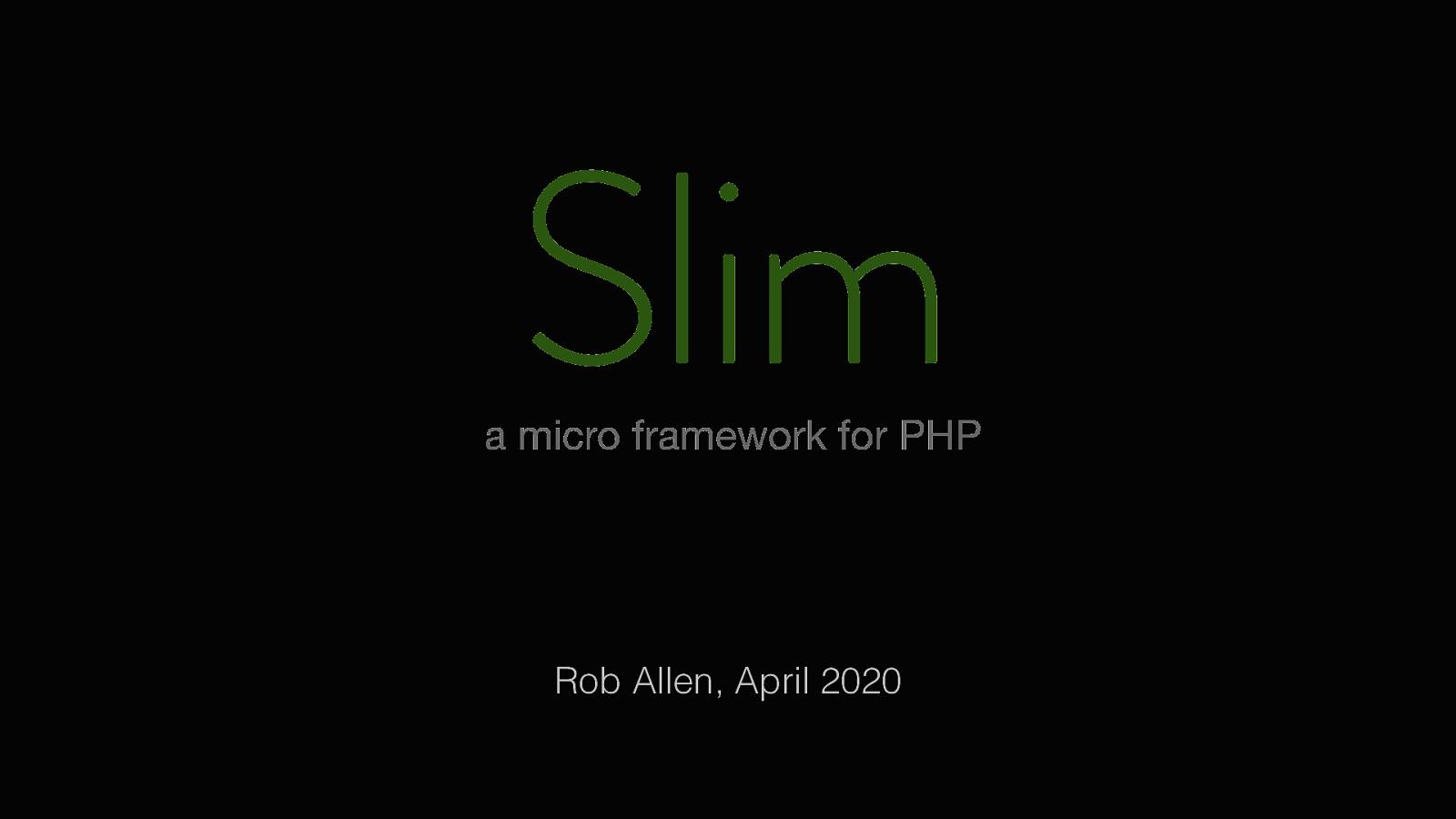 Slim 4: PHP's microframework
