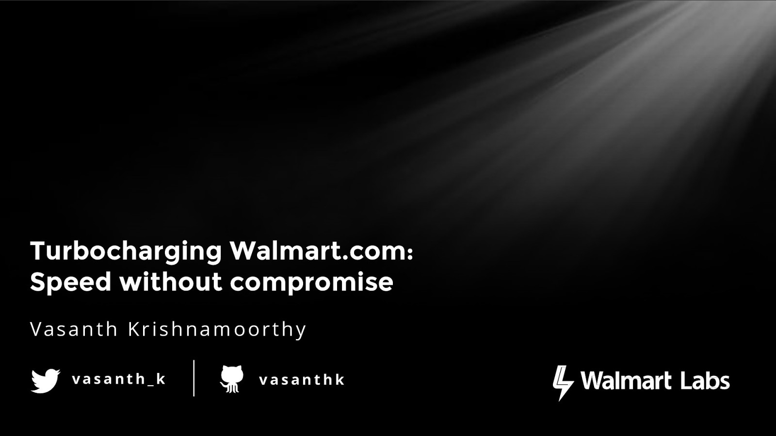 Turbocharging Walmart.com  - Speed without compromise