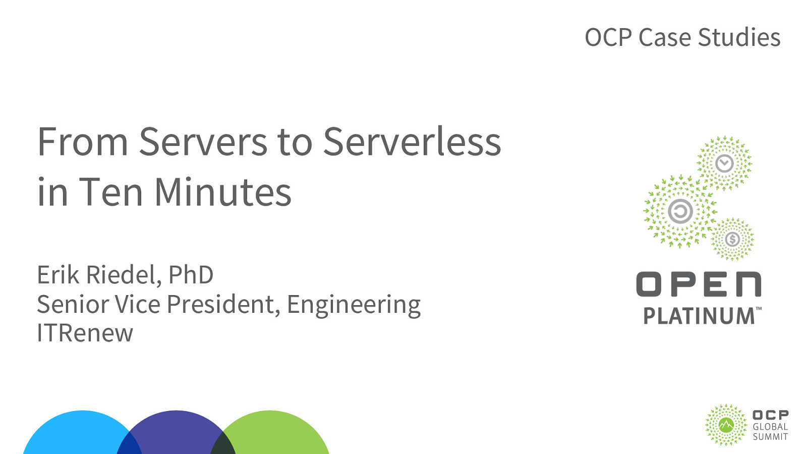 From Servers to Serverless