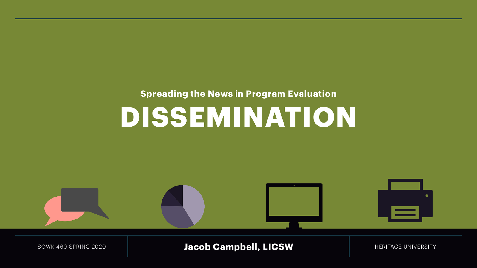 Week 15 - Dissemination - Spreading the News in Program Evaluation