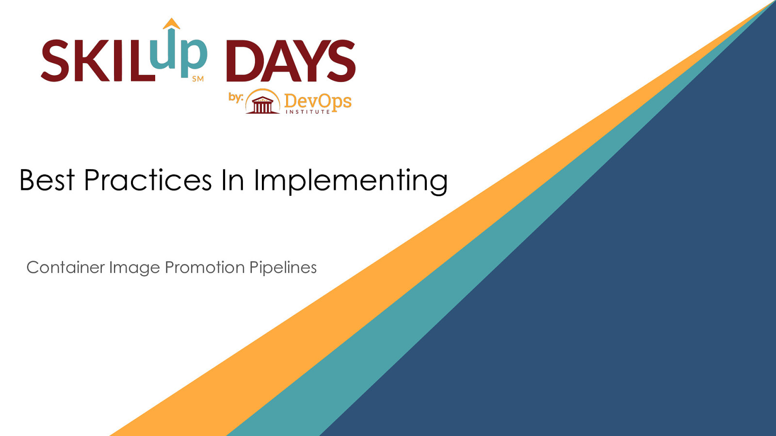 Best Practices In Implementing Container Image Promotion Pipelines by Baruch Sadogursky