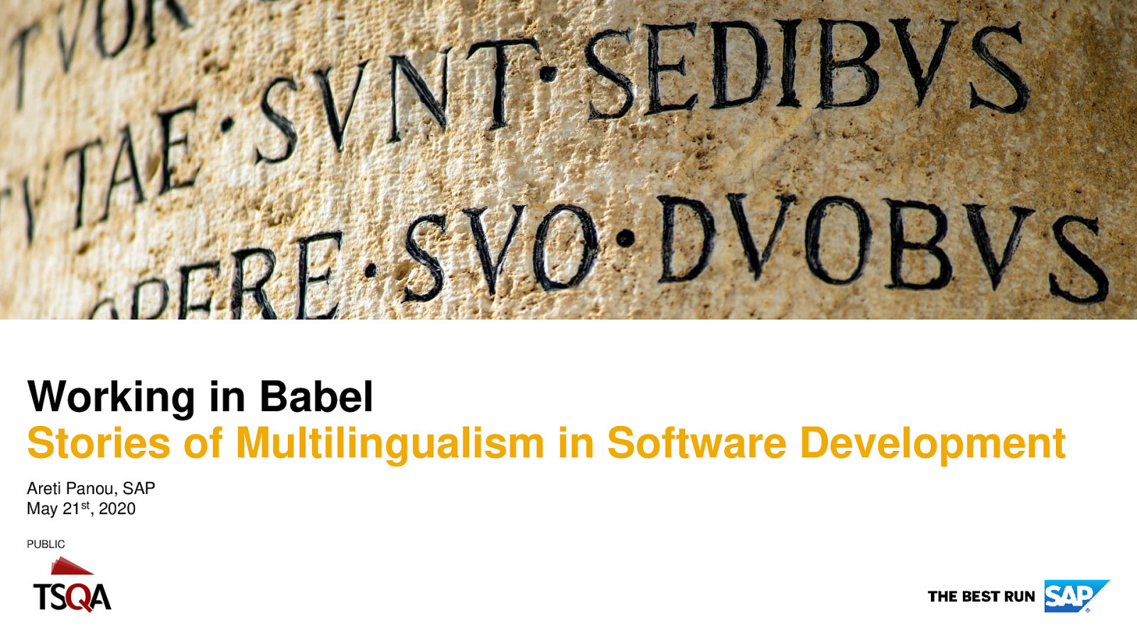 Working in Babel: Stories of Multilingualism in Software Development