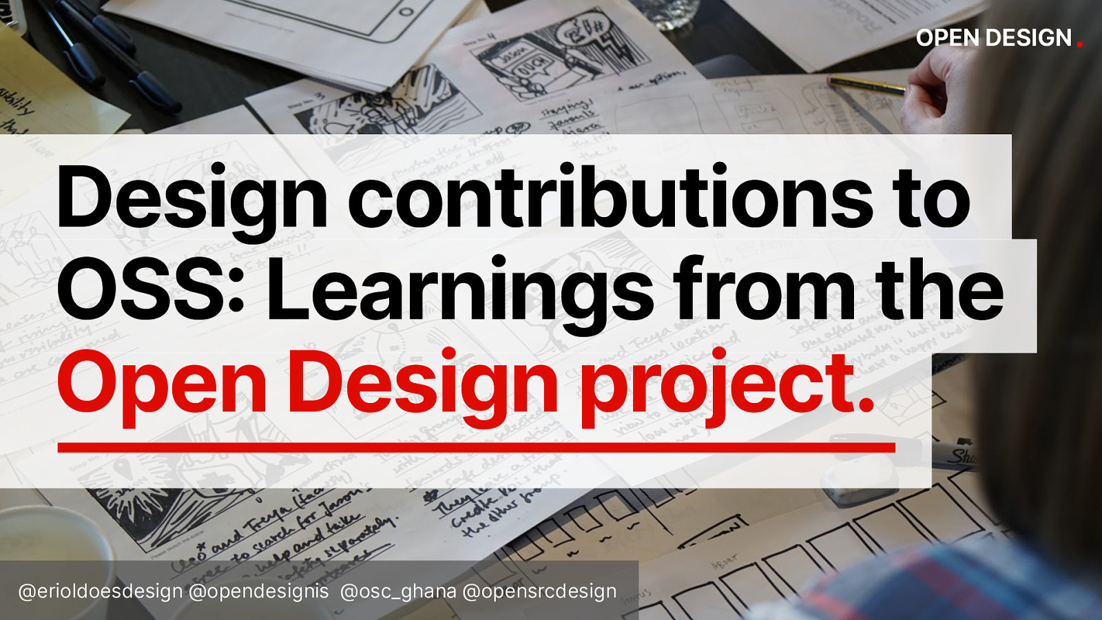 Design contributions to OSS: Learnings from the Open Design workshops project