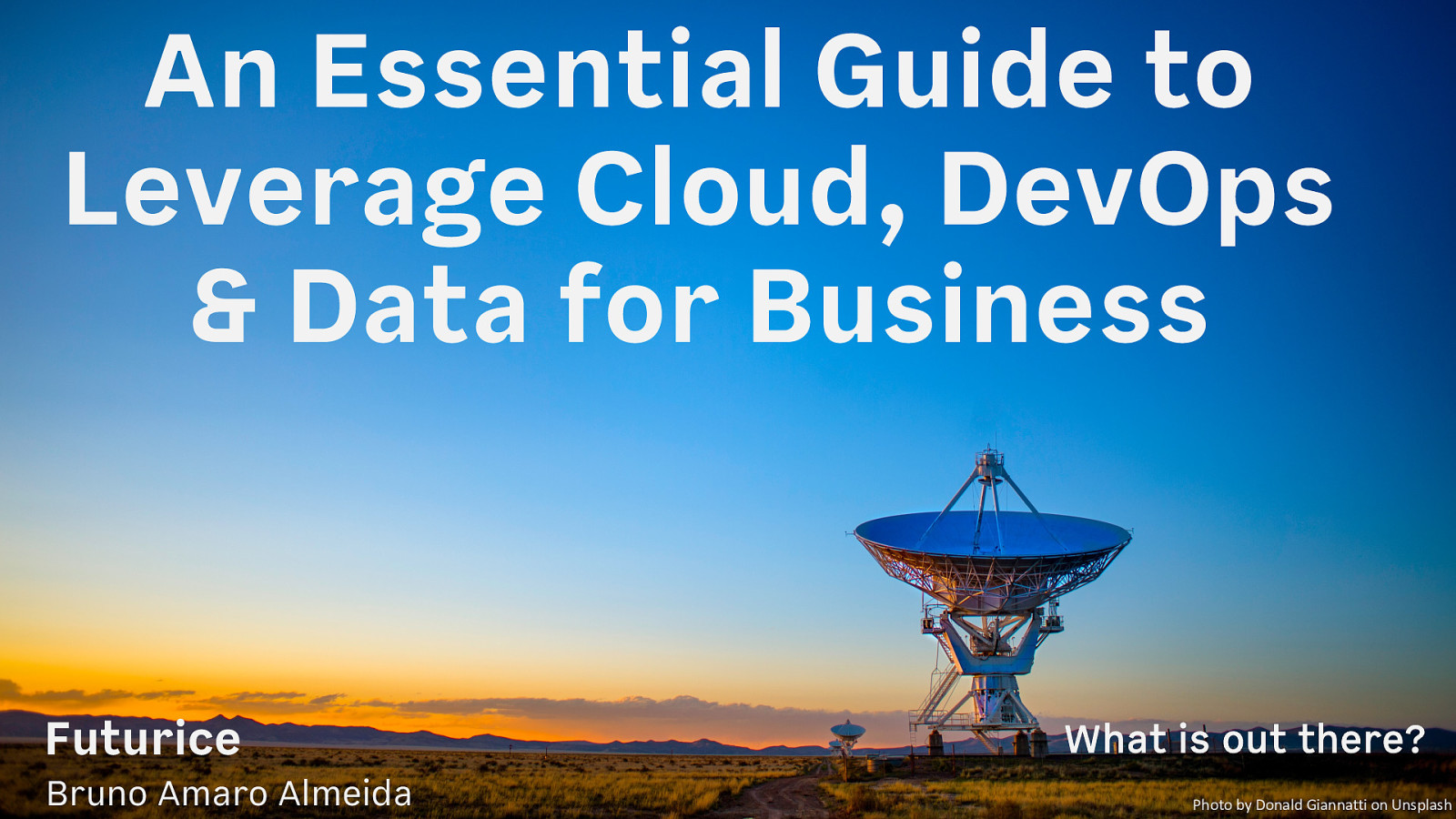 An Essential Guide to Leverage Cloud, DevOps & Data for Business