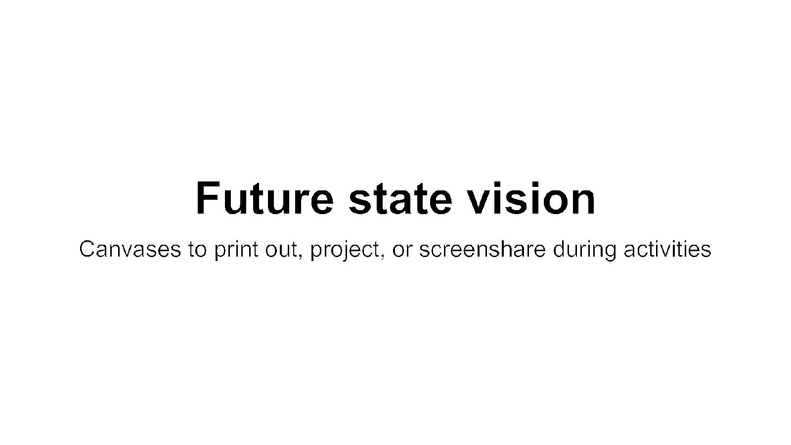 Future State Vision