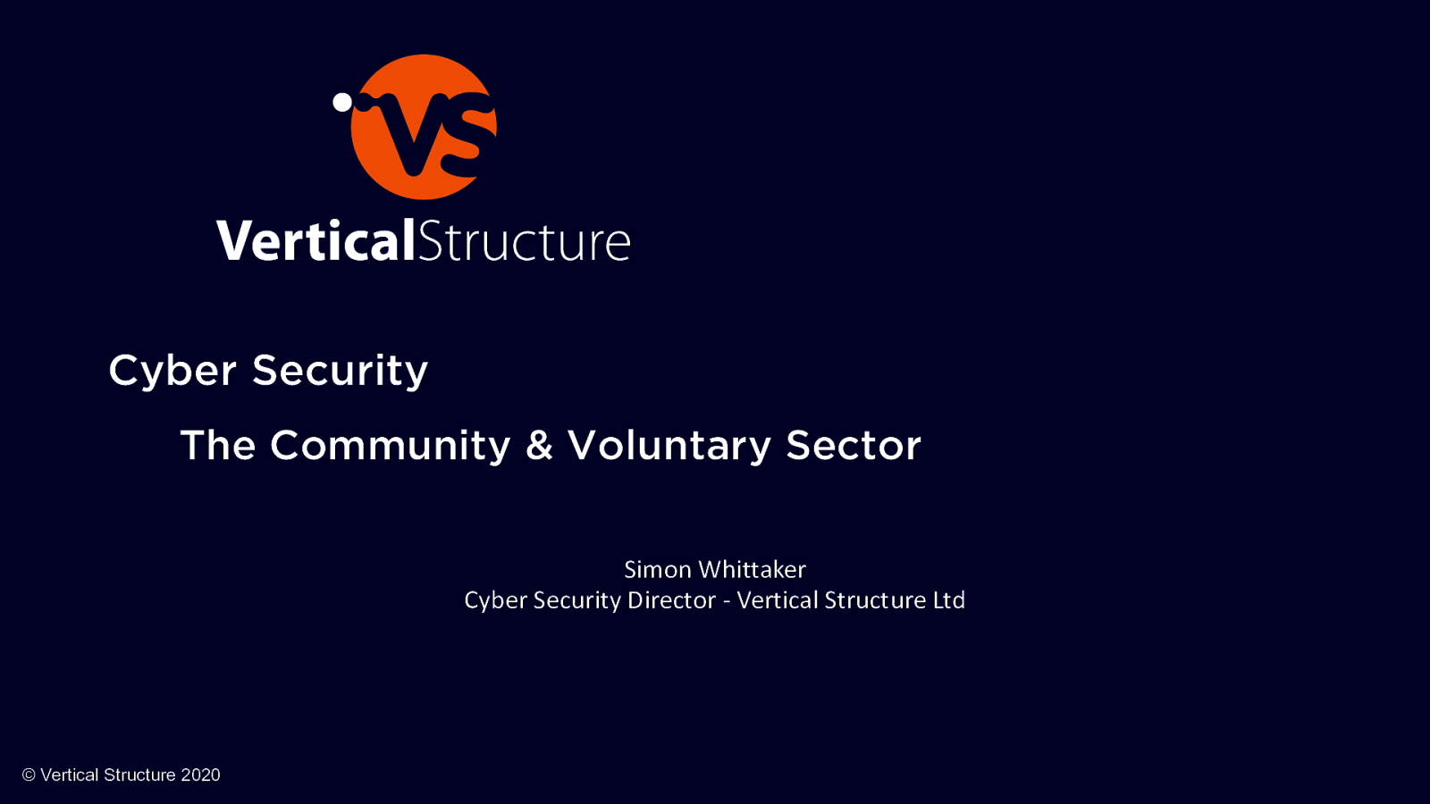 Cyber Security The Community & Voluntary Sector