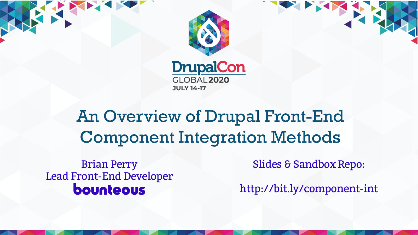 An Overview of Drupal Front-End Component Integration Methods
