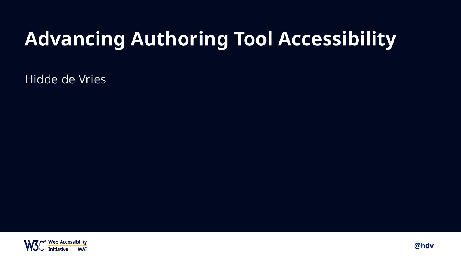 Advancing authoring tool accessibility
