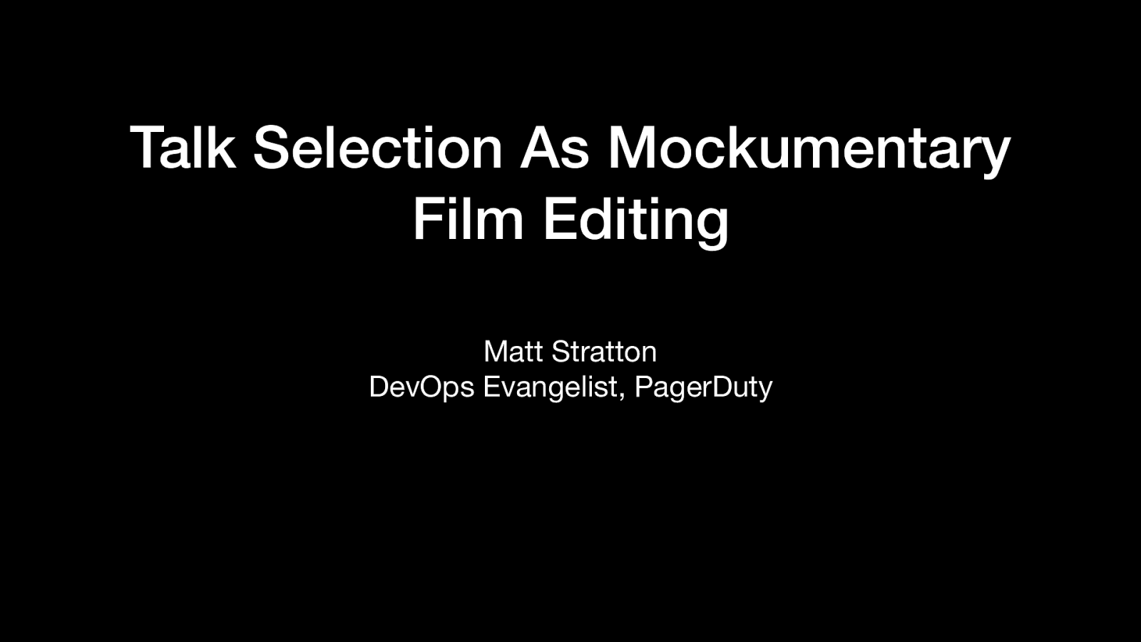 Talk Selection As Mockumentary Film Editing