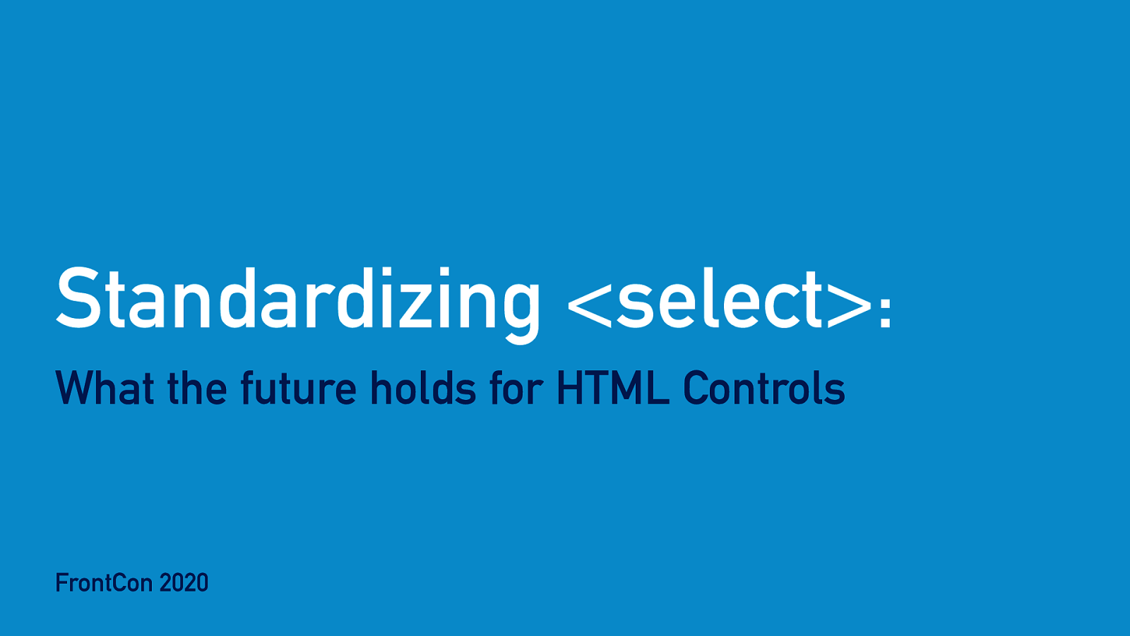 Standardizing <select>: What the future holds for HTML Controls
