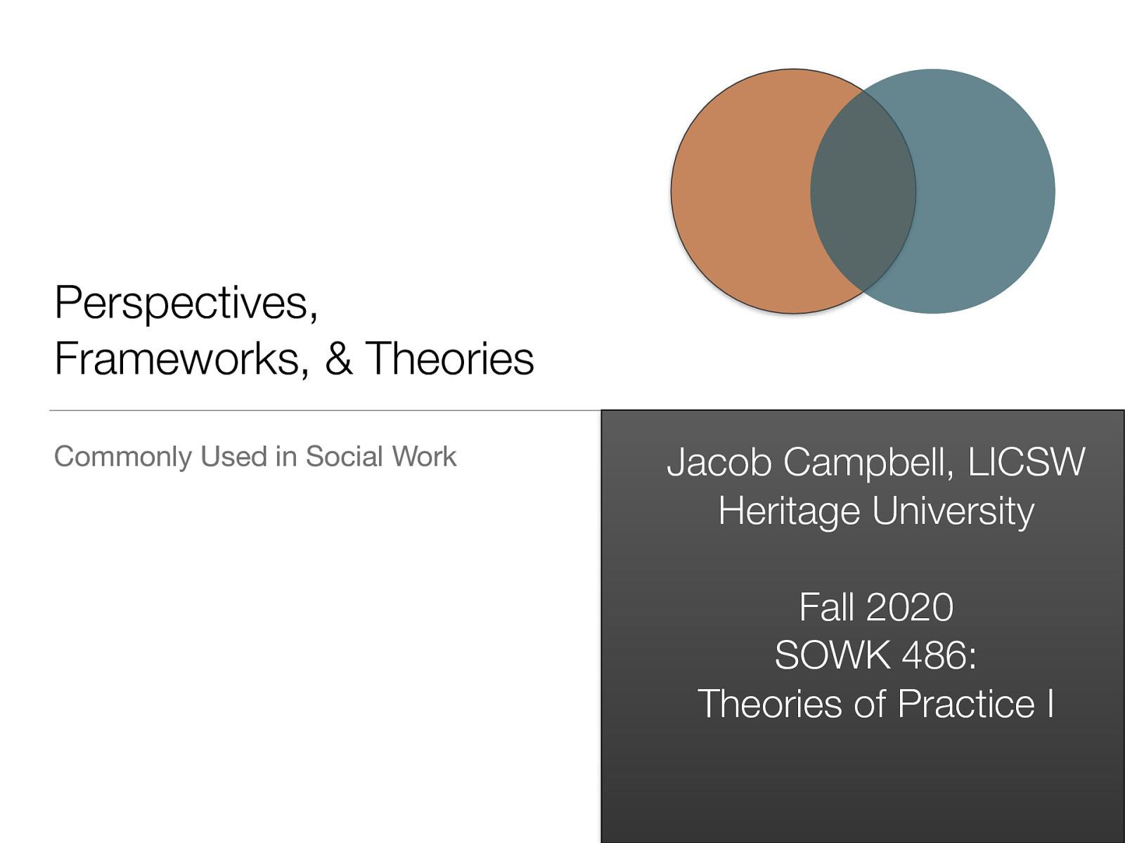 Week 02 Social Work Perspectives, Frameworks, & Theories