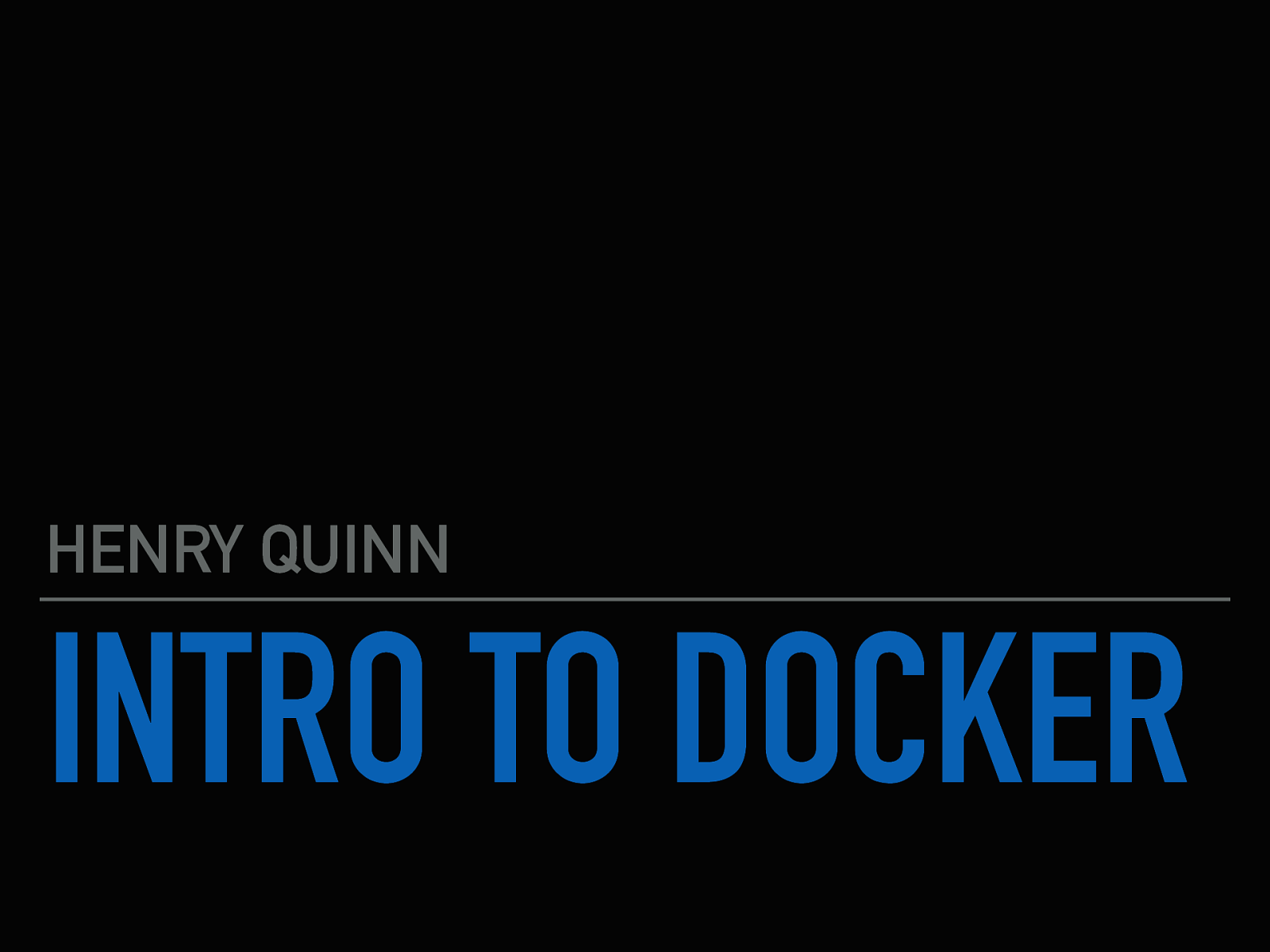 Intro to Docker