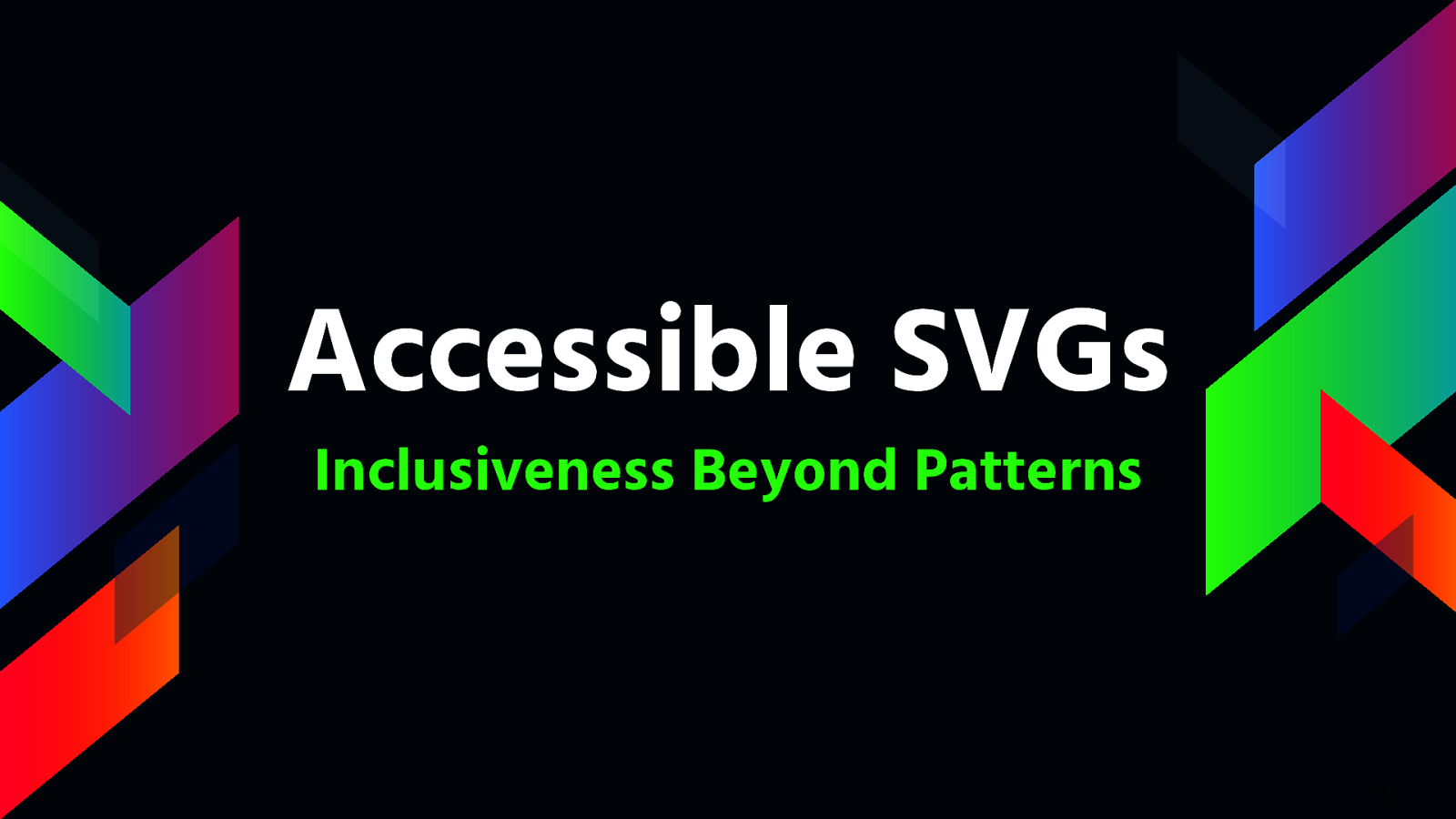 Accessible SVGs Inclusiveness Beyond Patterns