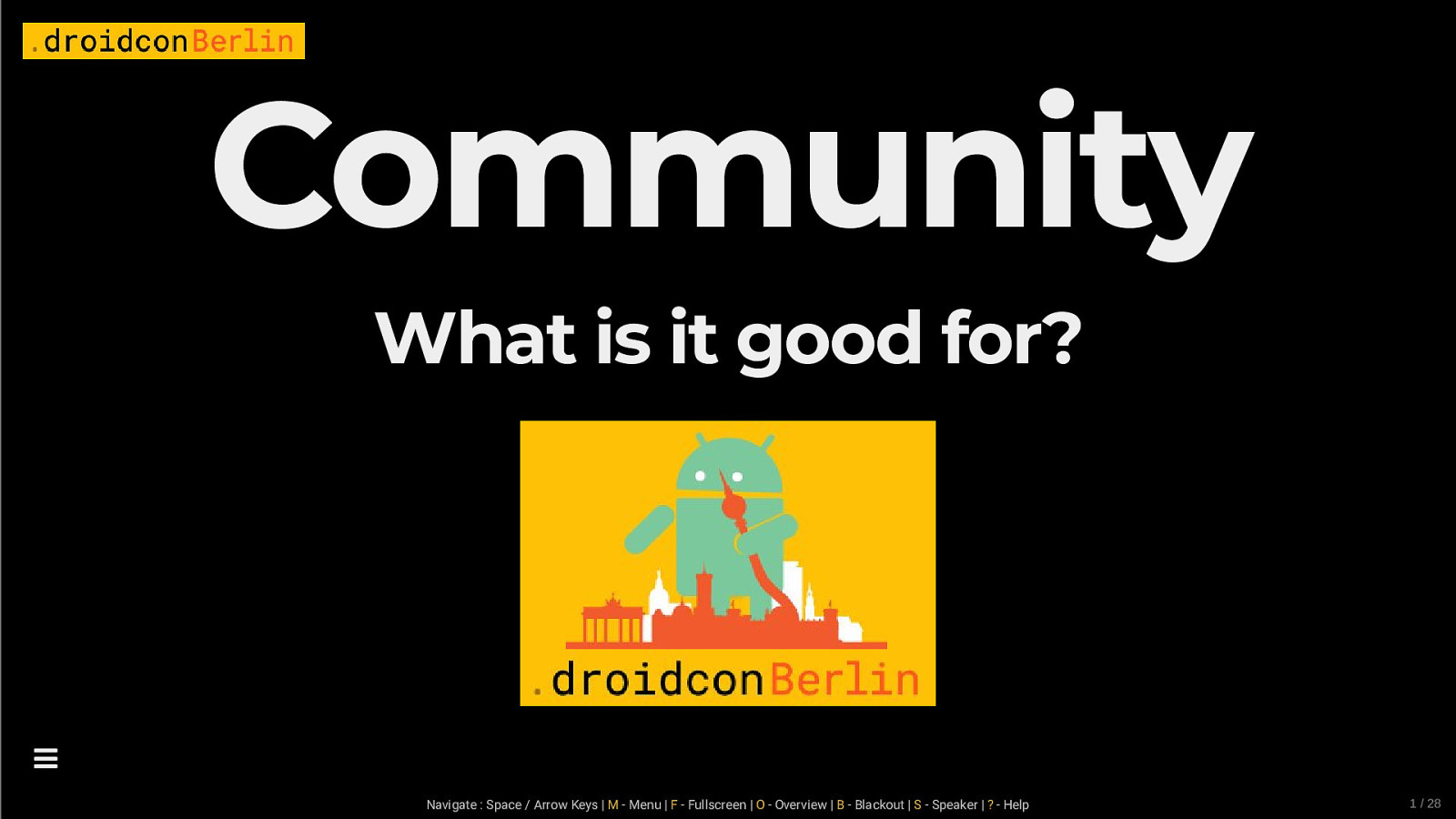 Community - What is it good for?