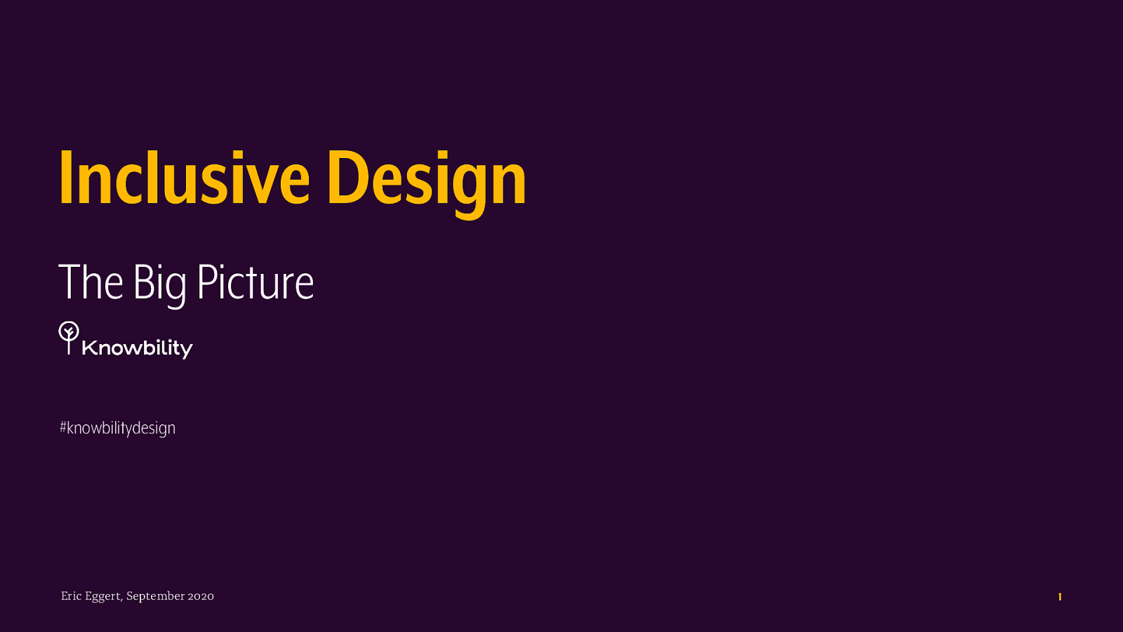 Inclusive Design – The Big Picture
