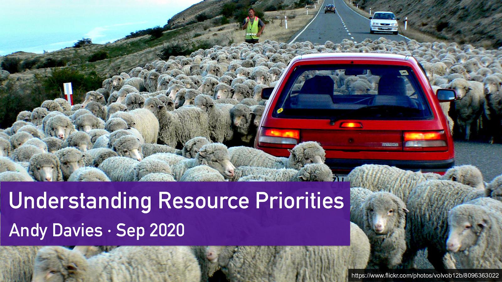 Understanding Resource Priorities