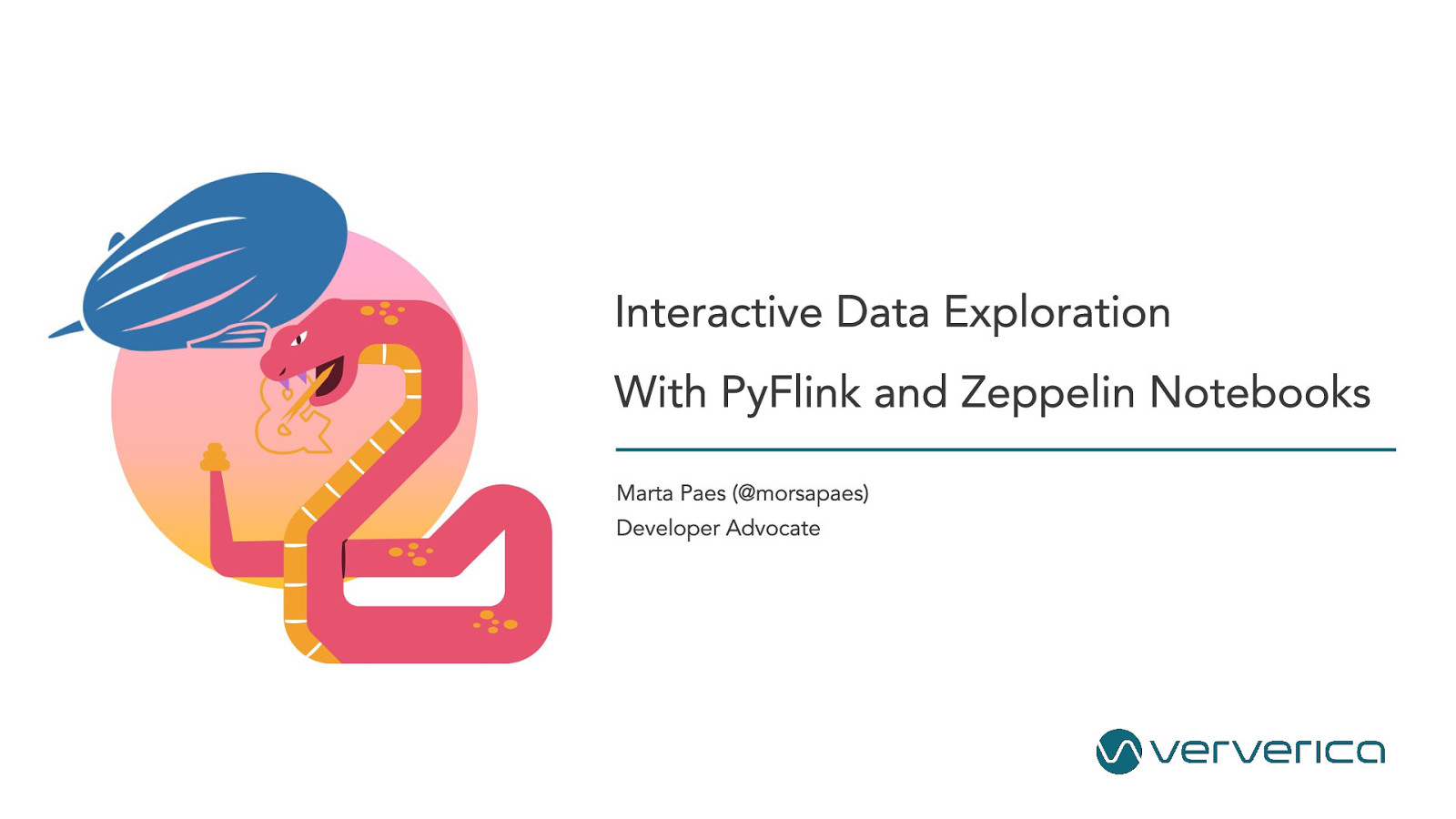 Snakes on a Plane: Interactive Data Exploration with PyFlink and Zeppelin Notebooks