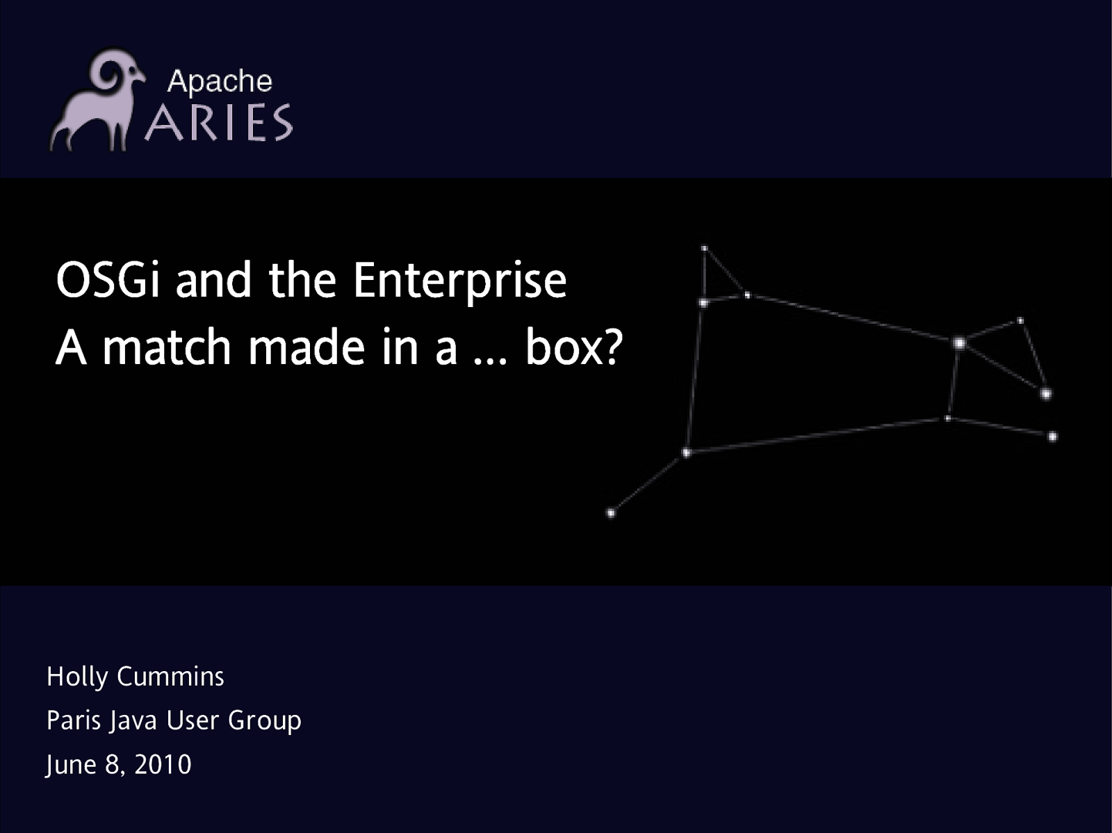 OSGi and the Enterprise - A match made in a … box?
