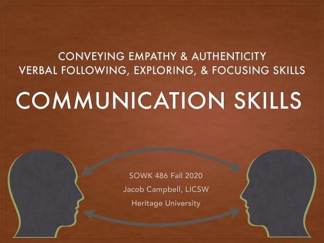 Week 06 - Communication Skills