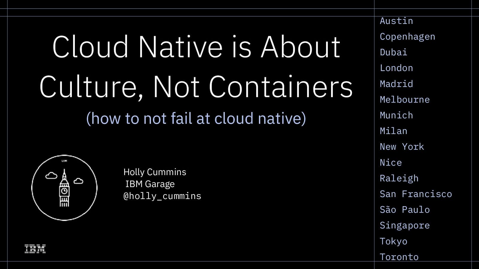Cloud Native is about Culture, not Containers