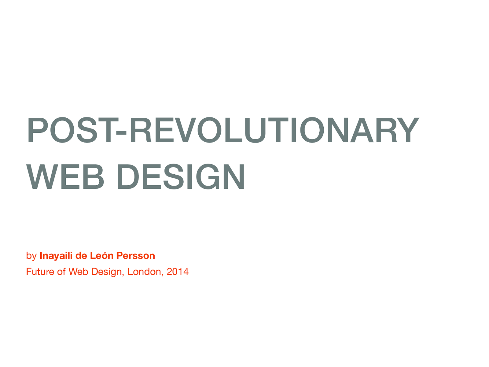 Post-revolutionary web design