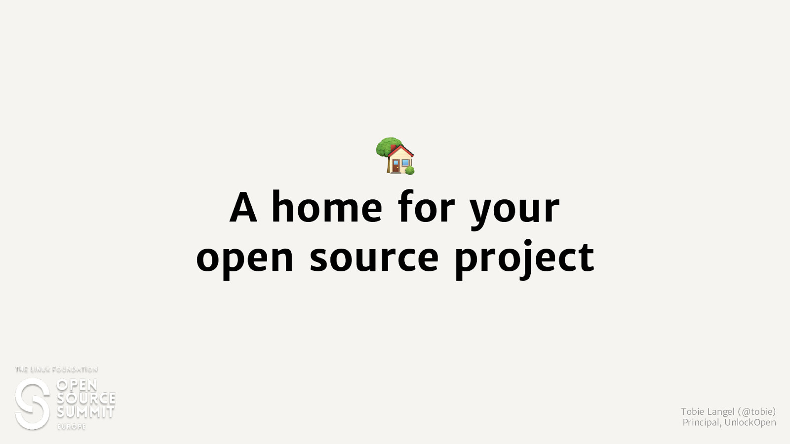 A Home for your open source project