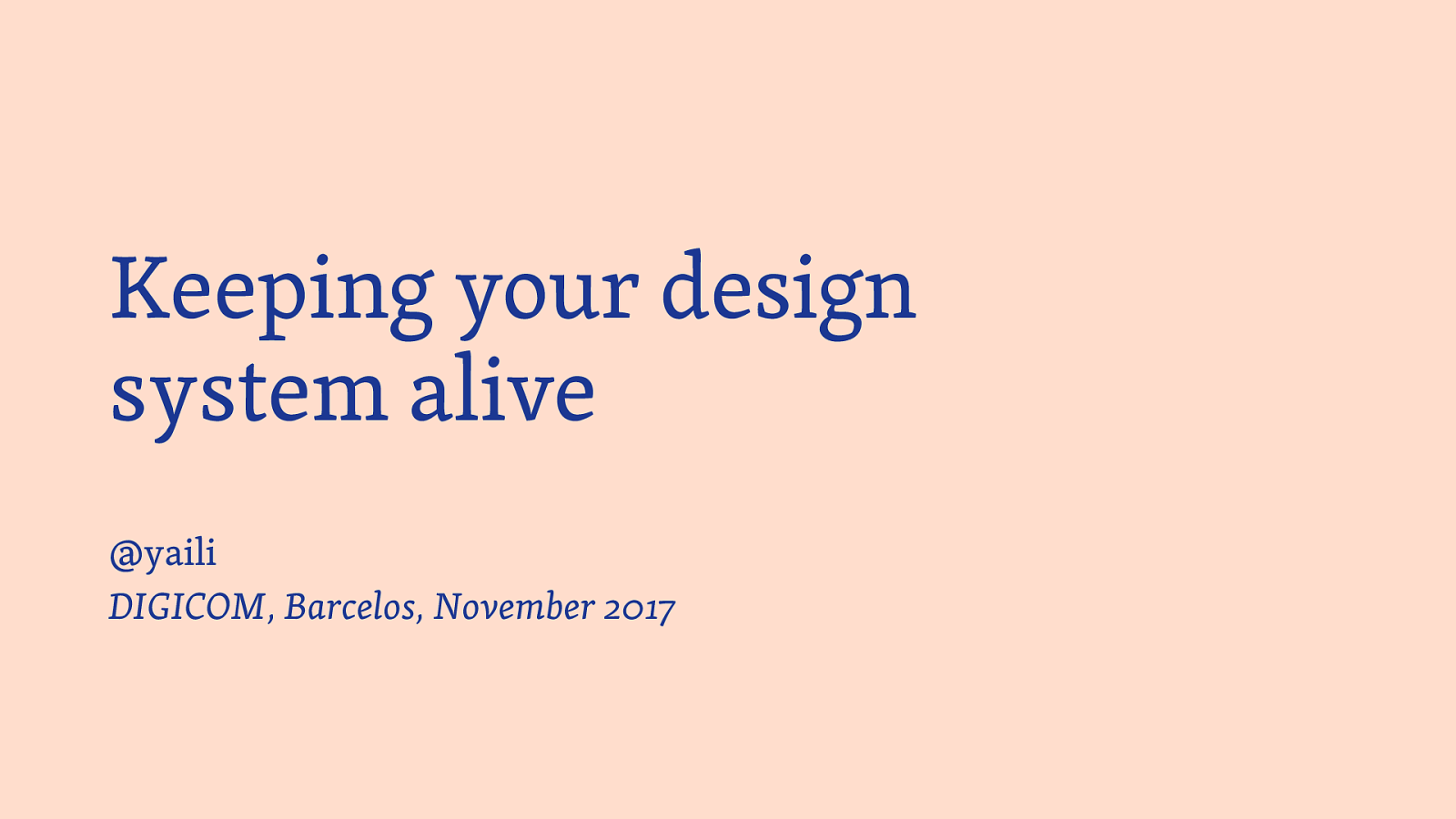 Keeping your design system alive