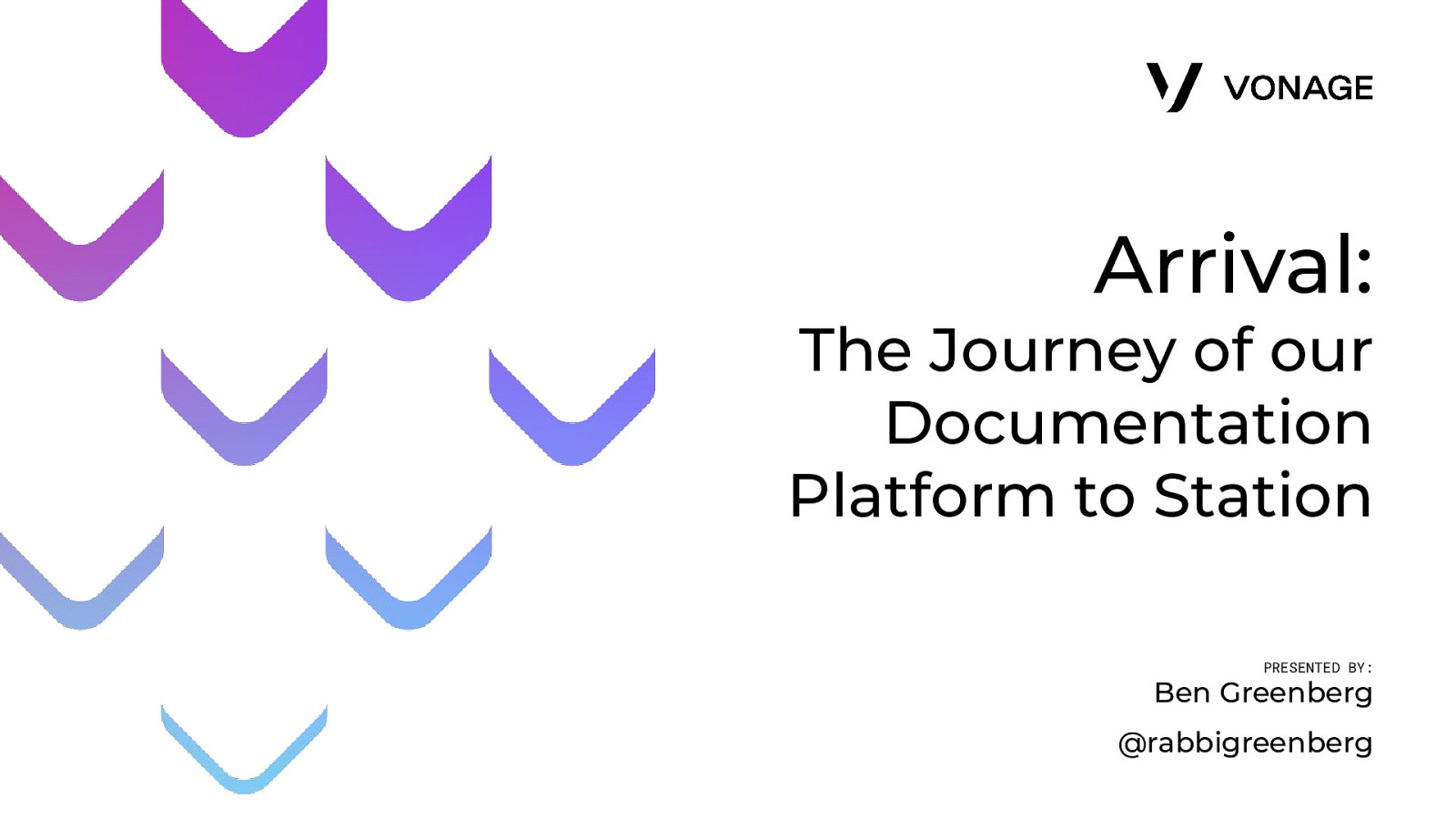 Arrival: The Journey of our Documentation Platform to Station