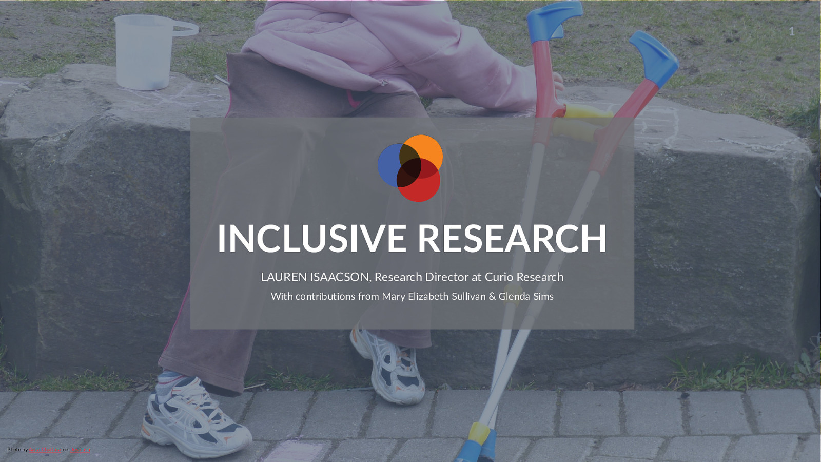 Inclusive Research - Making research accessible to people with disabilities