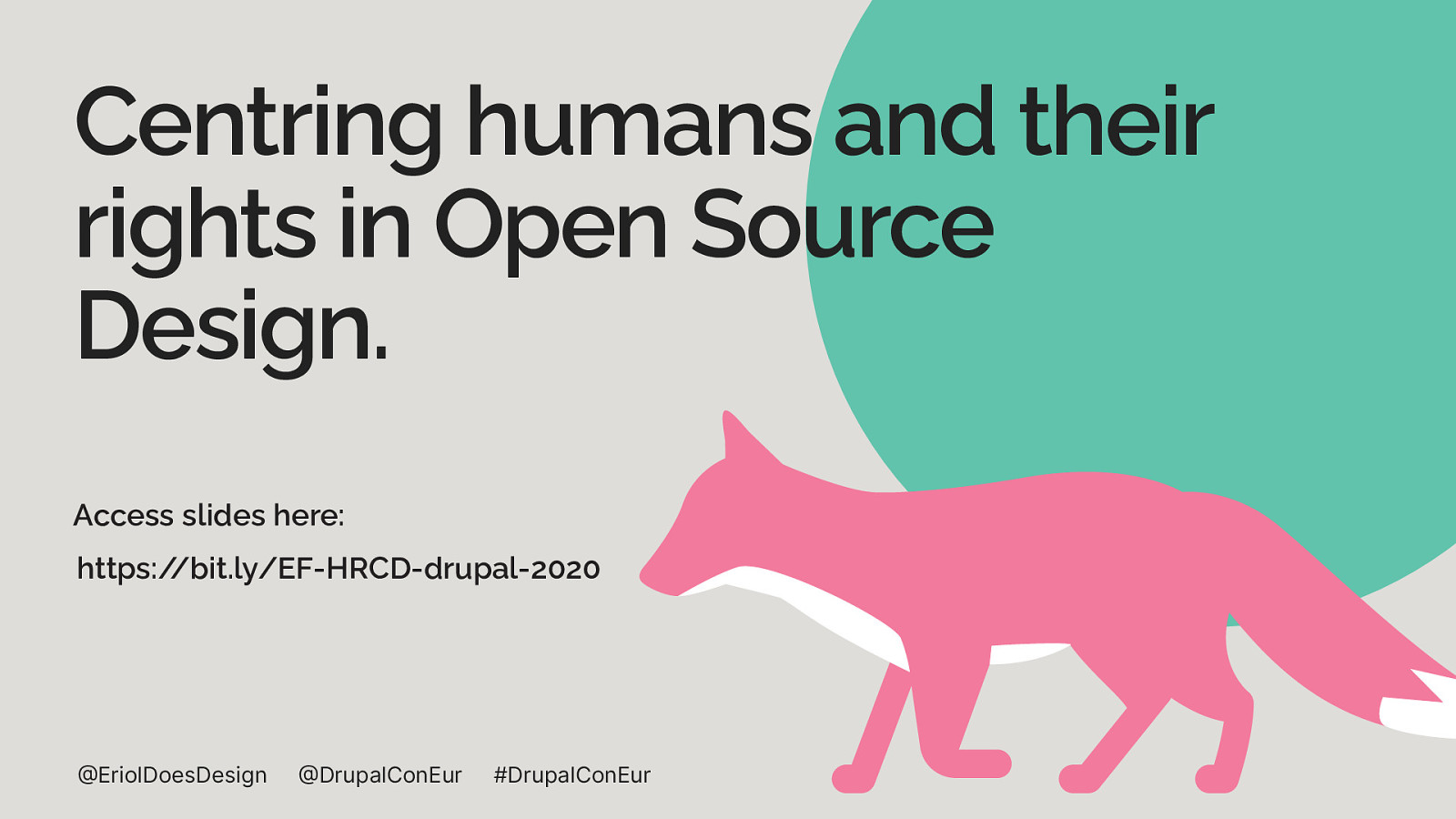 Centring humans and their rights in Open Source Design.