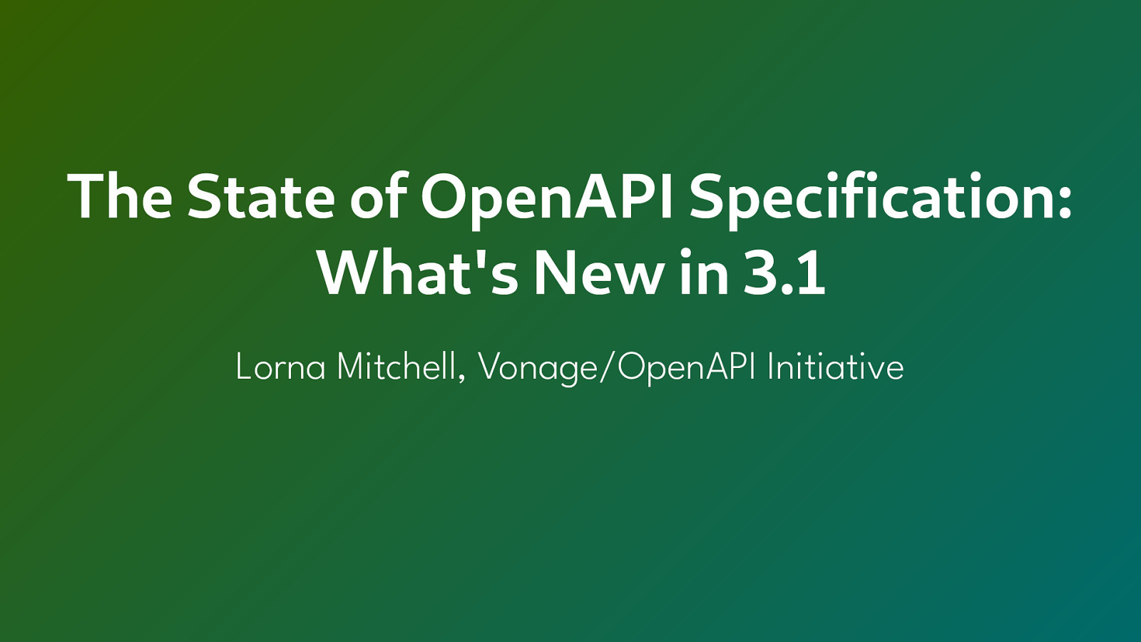 What's New in OpenAPI Specification 3.1