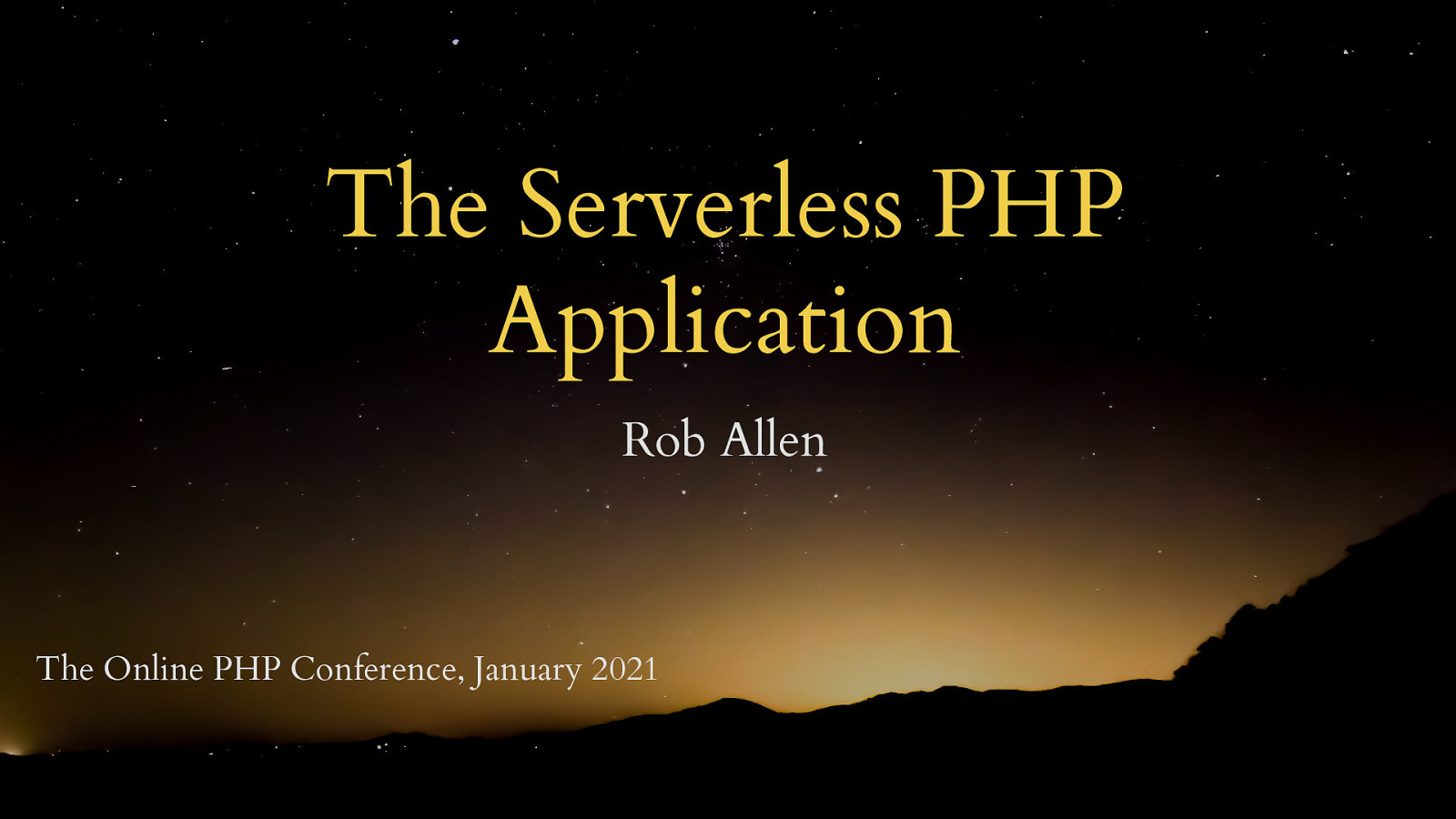 The Serverless PHP Application by Rob Allen
