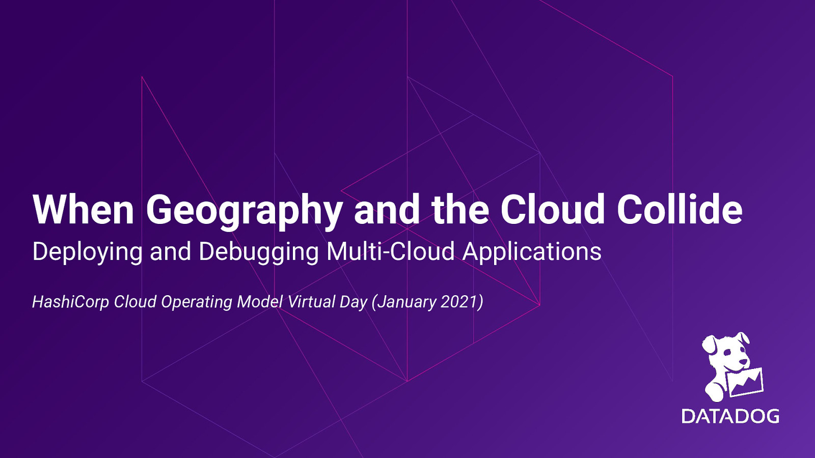 When Geography and the Cloud Collide