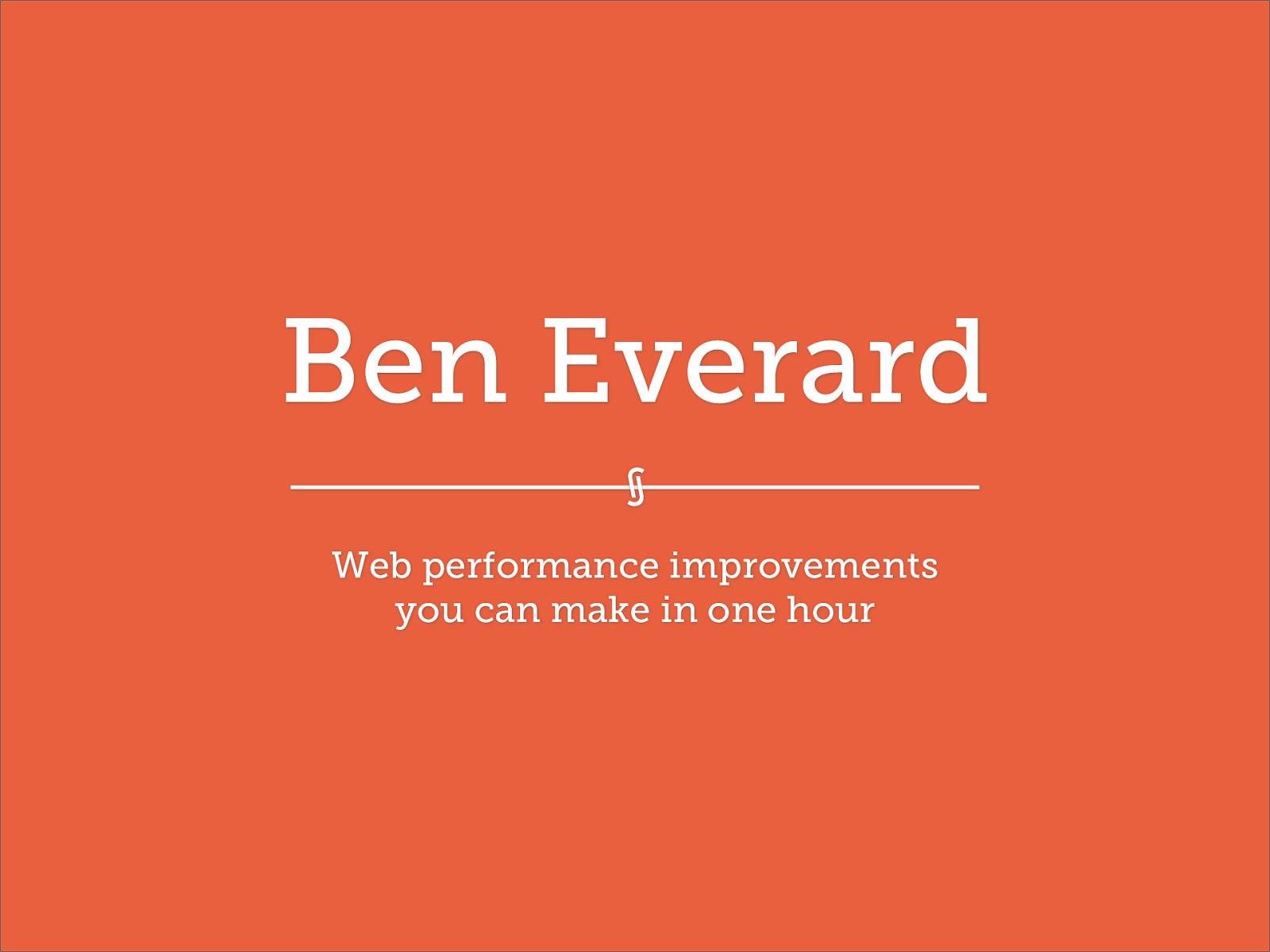 Web Performance Improvements In One Hour