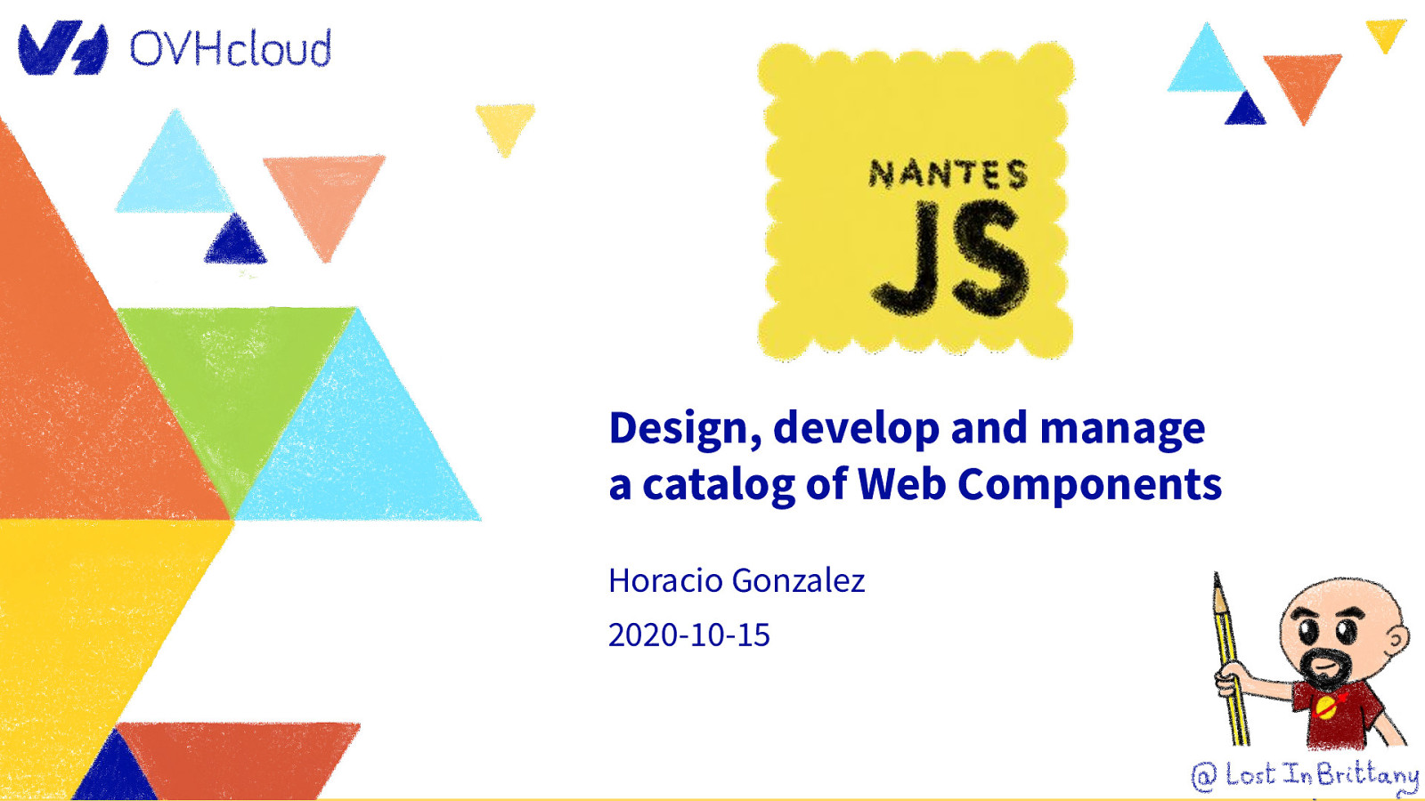 Design, develop and manage  a catalog of Web Components