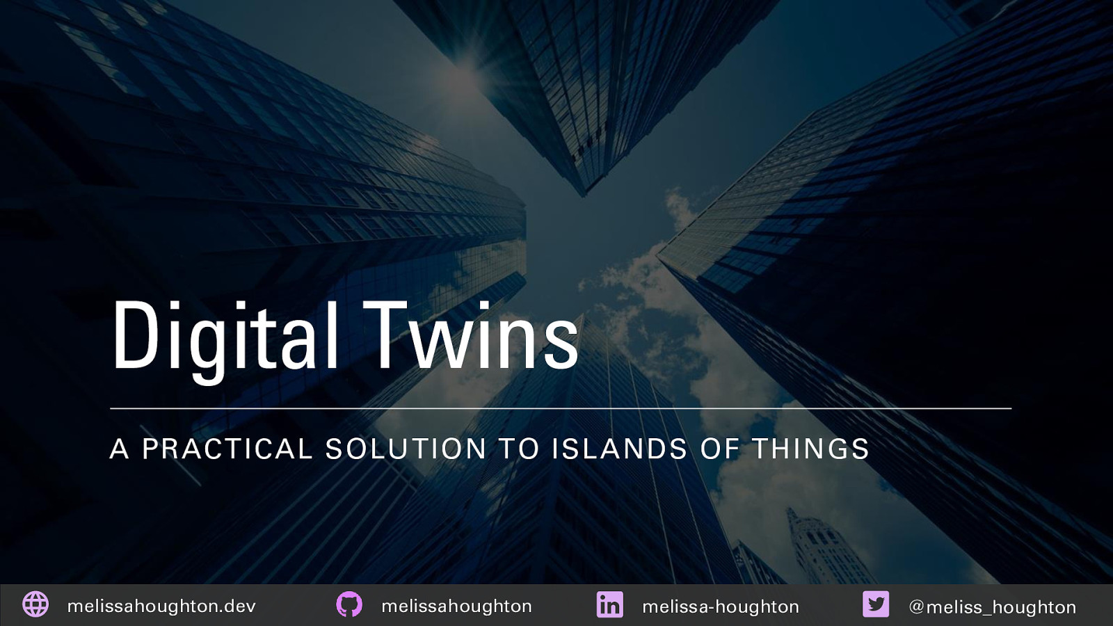 Digital Twins: A practical solution to islands of things