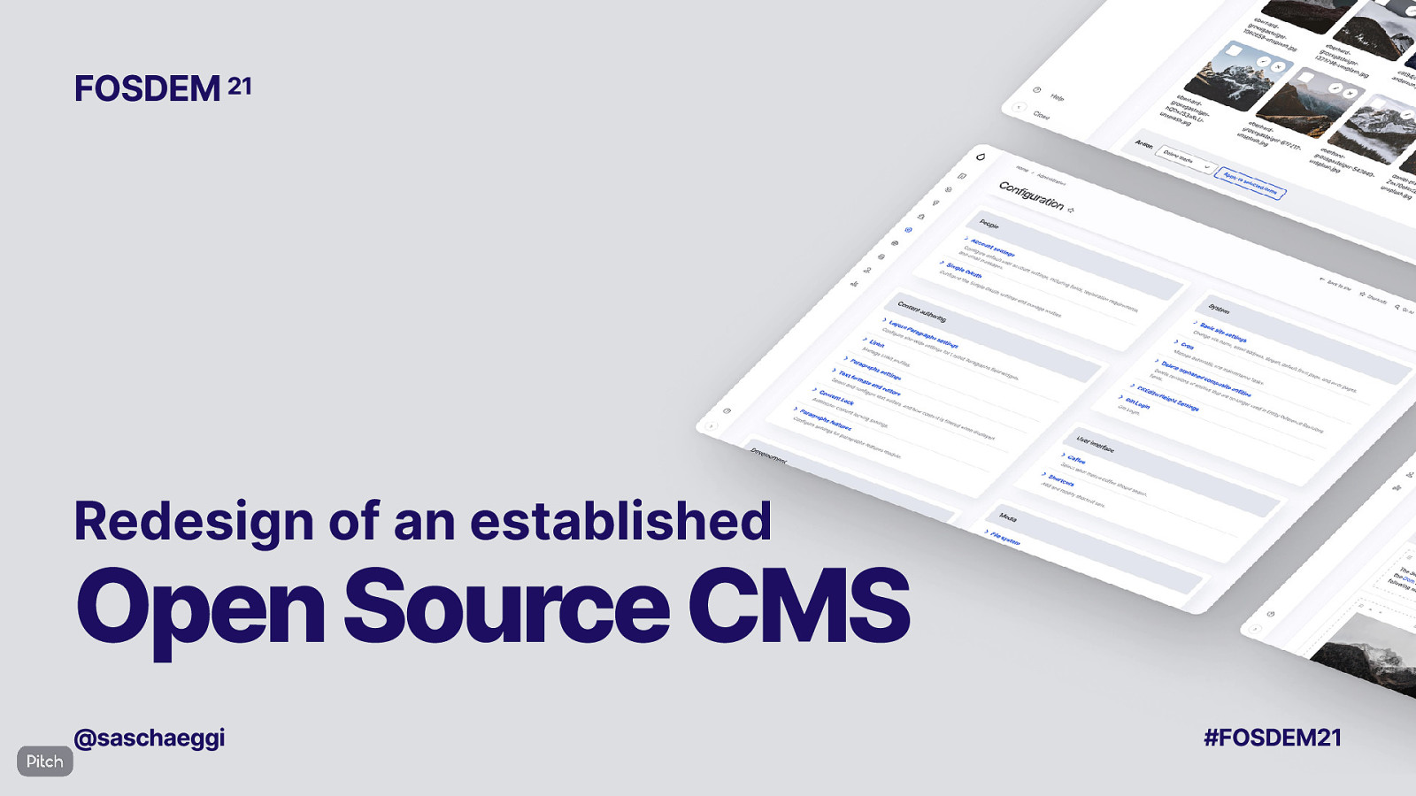 Redesign of an established Open Source CMS
