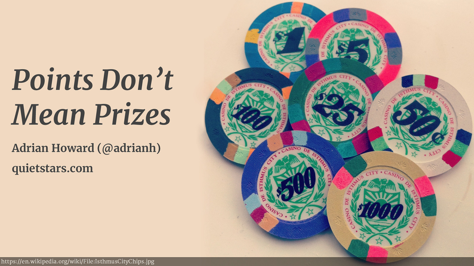 Points Don't Mean Prizes