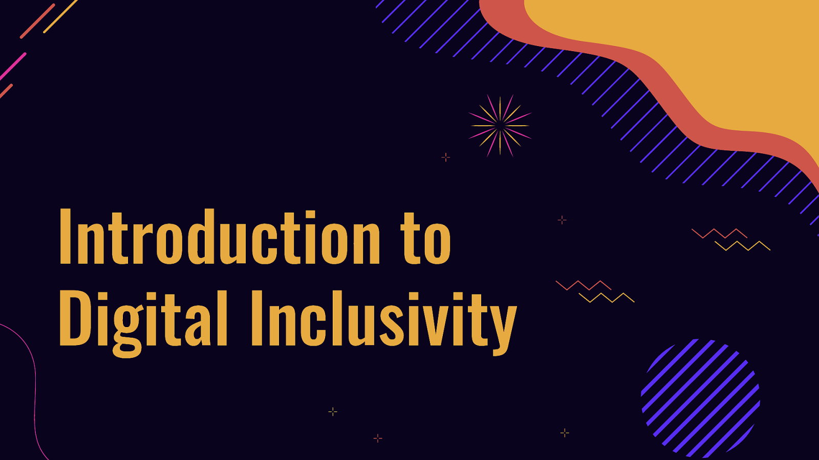 Introduction to Digital Inclusivity