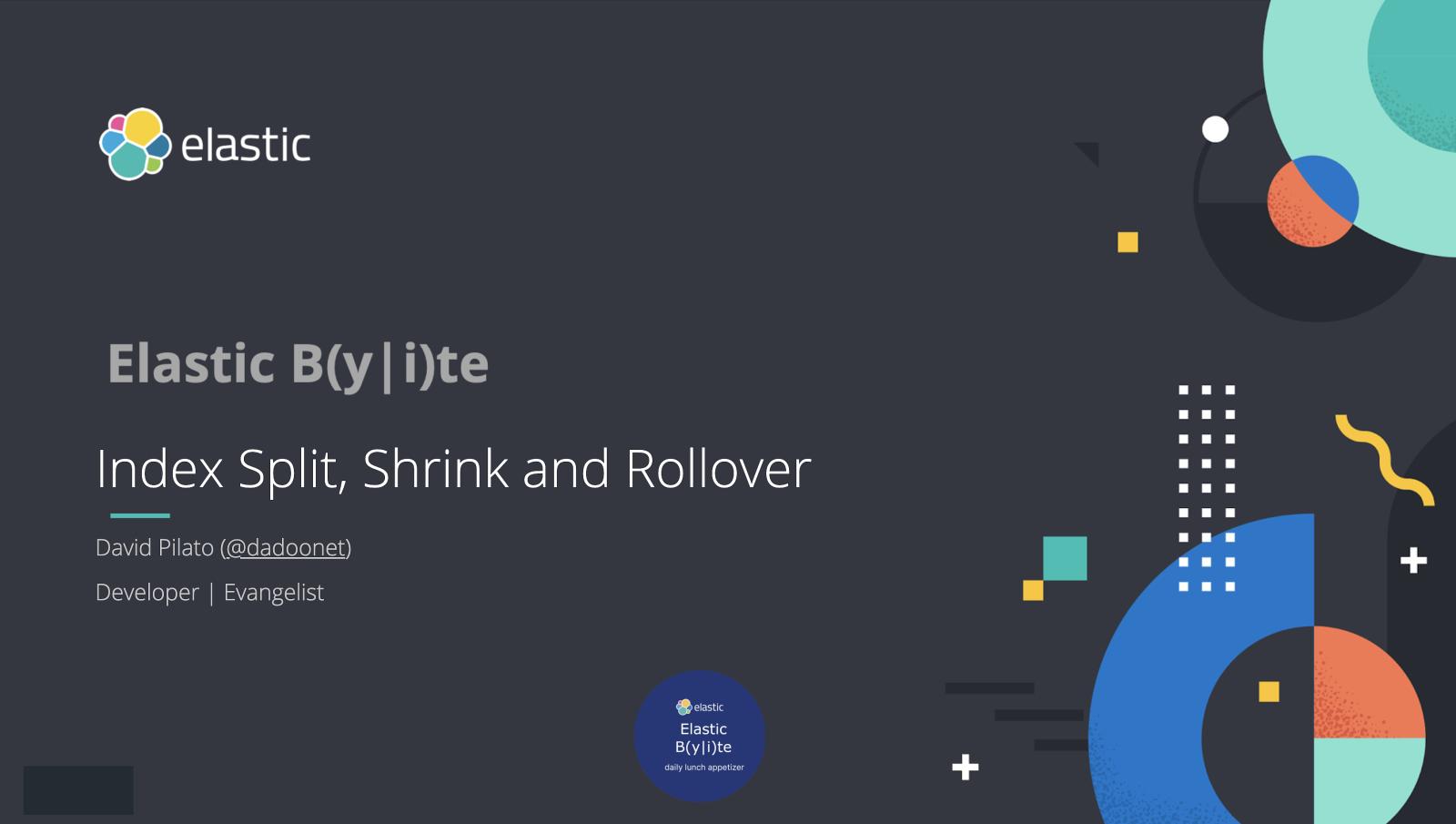 Index Split, Shrink and Rollover