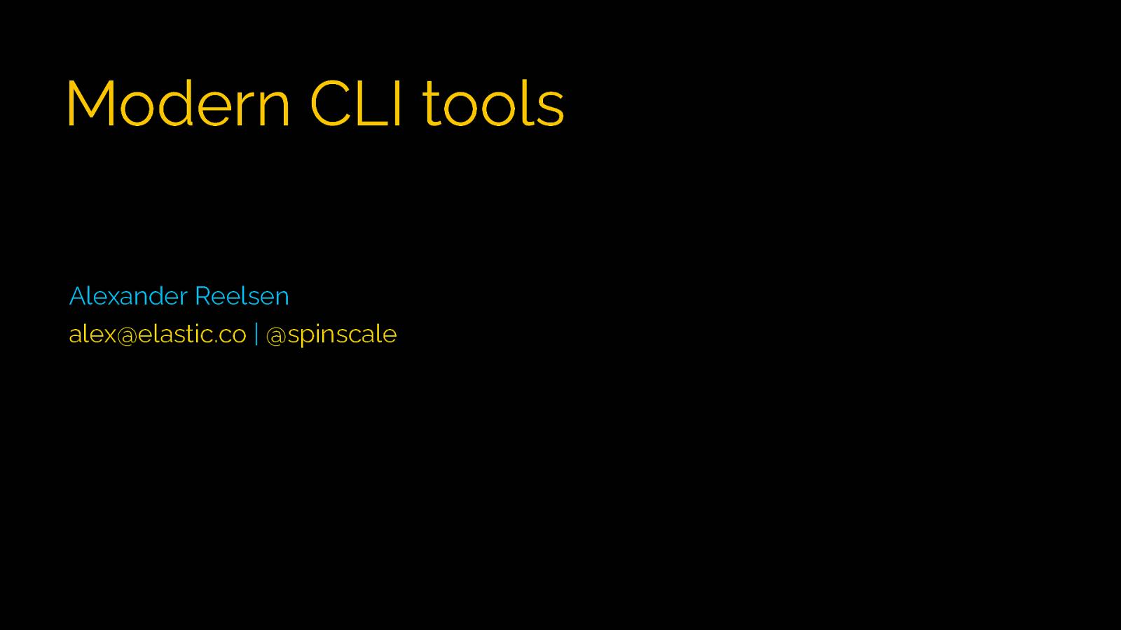 Modern CLI Tools