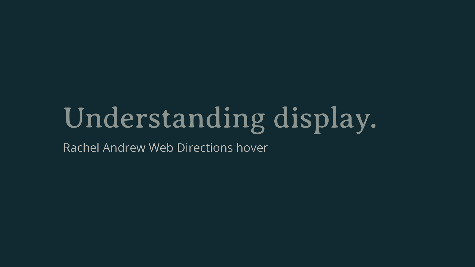 Understanding Display