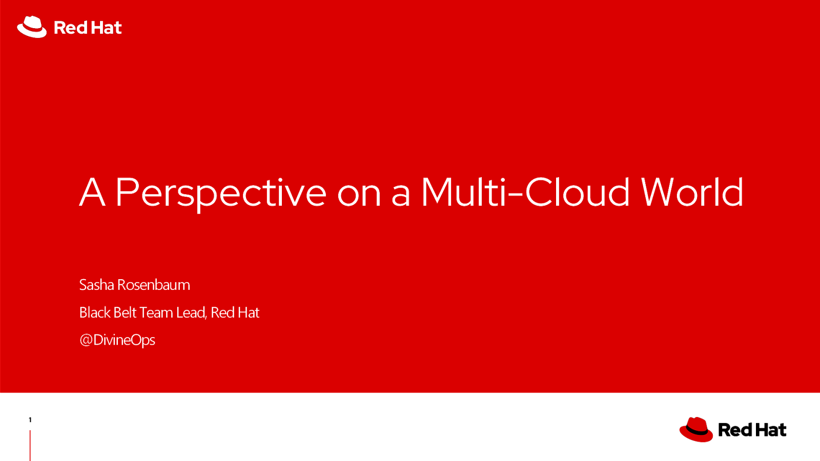 A perspective on the Multi-Cloud world