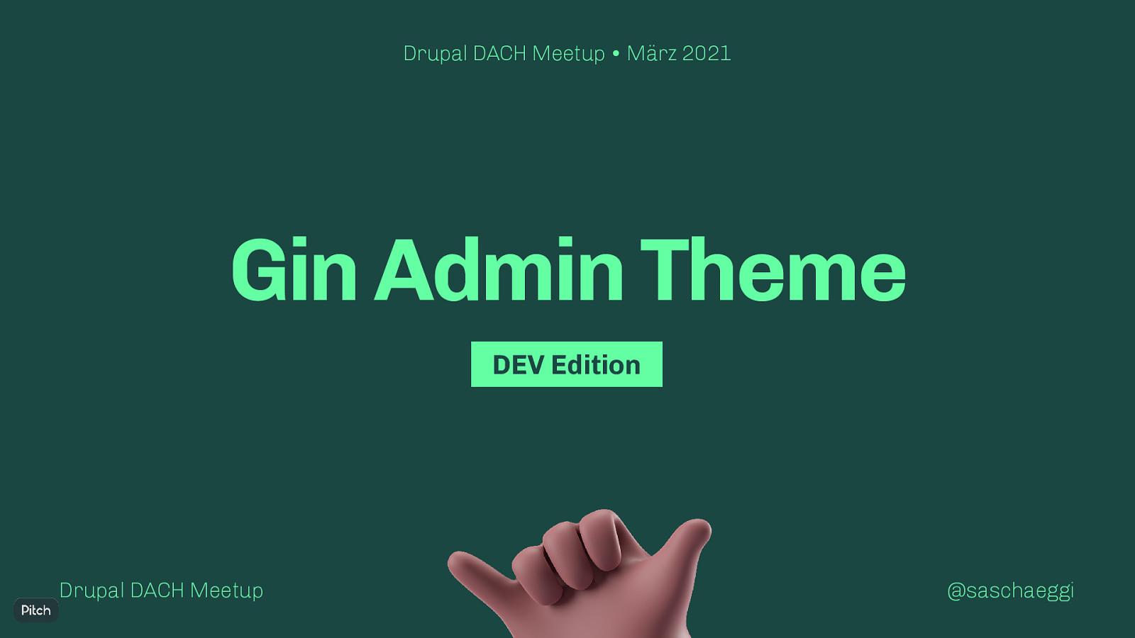 Gin Admin Theme (DEV Edition, German)