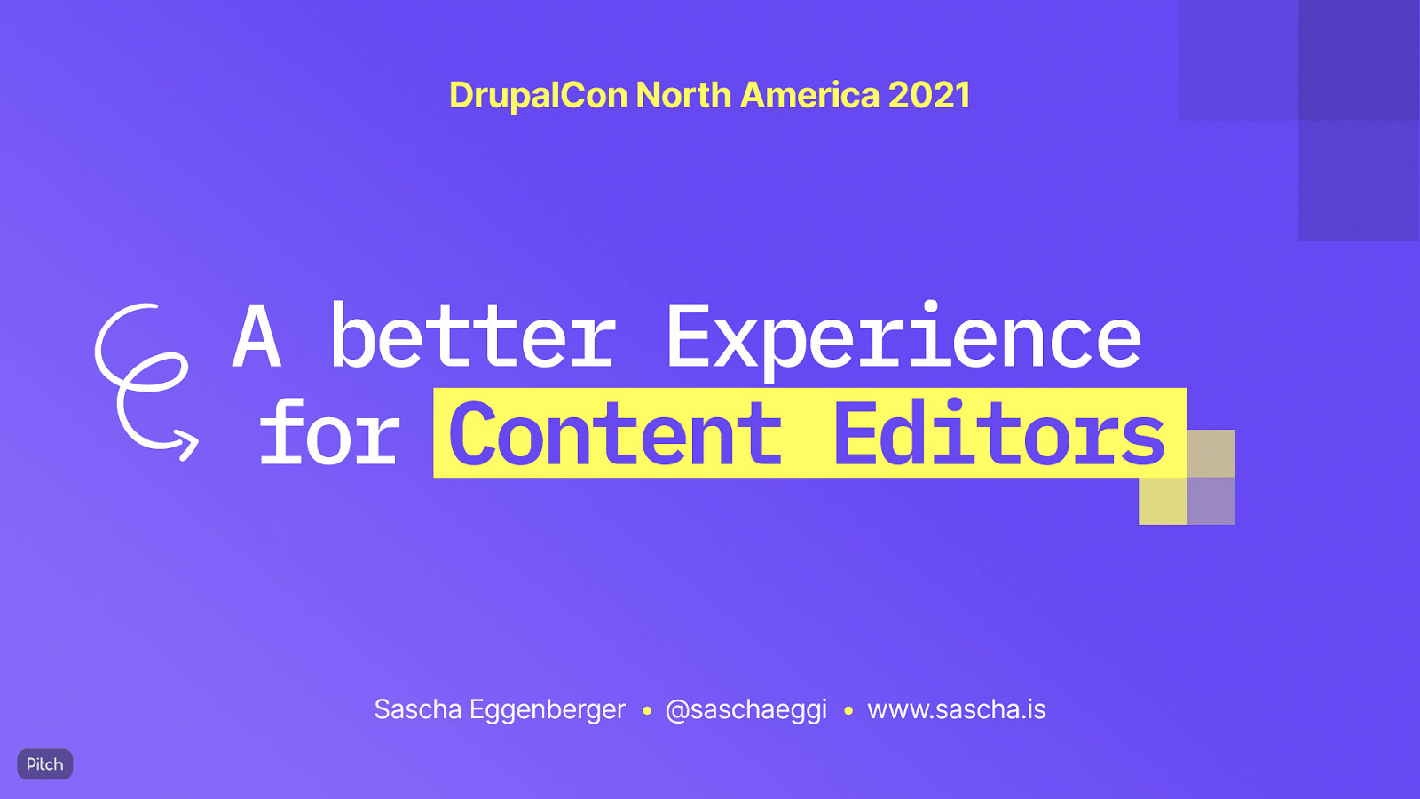 A better Experience for Content Editors