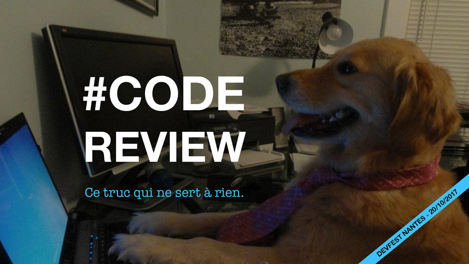 Code review, ce truc qui ne sert à rien.