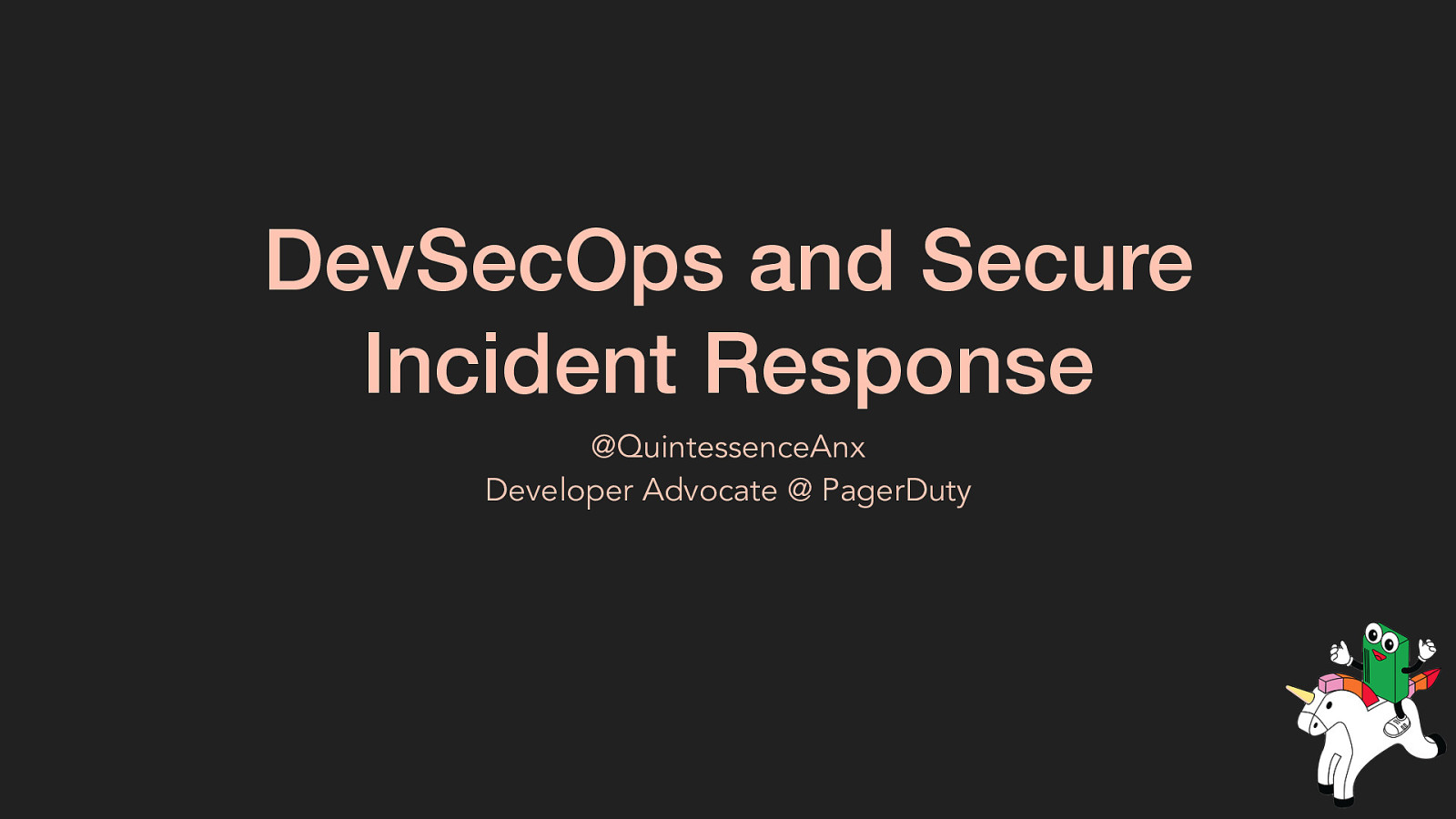 DevSecOps and Secure Incident Response